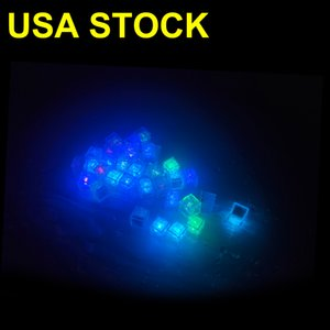 Carton Ice Cube Water-Actived Led Light Put Into Water Drink Flash Automatically for Party Wedding Bars Christmas USALIGHT
