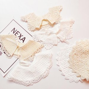 Bibs & Burp Cloths American Infant Cotton Lace Saliva Towel European Princess Retro Baby Bib Cute Beautiful Sunflower Girls Fake Collar Acce