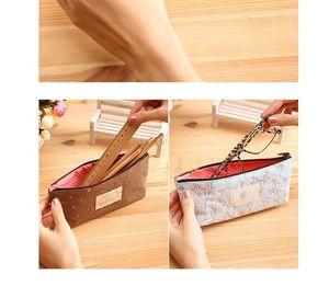 Favor de la fiesta de moda Bolso cosmético lindo Monederos de monedas Flor Floral lienzo llave bolsas de embrague billetera para regalos