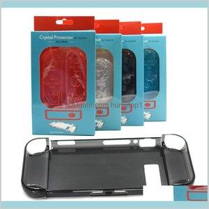 Nintend Switch Slim Back Hard Crystal Split Protective Cover Case Shell Skin, Fit For Nintend Original Dock Station Wv573 Qu8G4