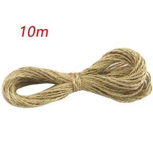 10Meter Natural Jute Twine Burlap String Linen Vintage Hand-woven Rope DIY Photo Wall Decoration Gift Wrapping Party Supplies