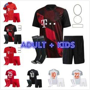 الكبار Kids Kit 20 21 Gnabry Coman Sane Soccer Jerseys Lewandowski 2021 Hernandez Coutinho Child Child Online مجموعة كاملة قميص كرة القدم