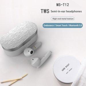 Fones de ouvido sem fio BT5.0 TWS Business Headset Esportes Headphone Música Fones de ouvido para iPhone 11 12 Huawei Xiaomi Samsung S20