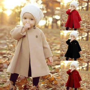Baby Girls Wool Coat Autumn Winter Warm Jacket Coat 1-4Yrs Baby Clothes For Kids Christmas New Year Gift Kids Blend Outerwear