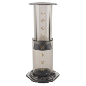 350 ml NUEVO Filtro de cristal Espresso Cafetera Cafetera portátil Café Francés Prensa Cafecoffee Pot para Aeropress Machine 372 V2