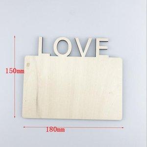 Sublimation Rahmen Thermal transfer plate Home Decor Heat Printing Picture Frame Wooden Desktop Decoration ZZE5339
