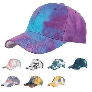 Fashion tie-dyed gradient print sunshade snabpack hat man and women summer baseball cap