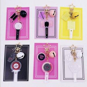 10pcs lot exo bts blackpink nct127 redvelvet mamamoo seventeen ikon twice enhypen straykids sj phone straps keychain