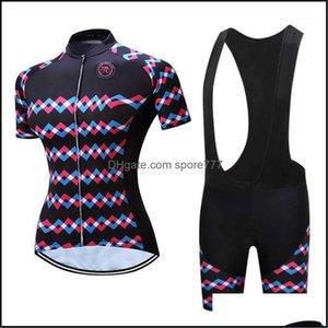 Racing Wear Athletic Outdoor Apparel Sports & Outdoorsracing Sets Women Road Cycling Jersey Kit Summer Pro Bike Bib Shorts Bicycle Mtb Cloth