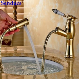Senduce Gold Slet Out Bathing Mezcly Tap STYLE europeo Down Basin Frife Faucet Quality Brass Grifures