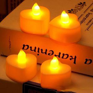 Candles Birthday Christmas Cute Candle Electric Luxury Wedding Flameless Halloween Yellow Luz De Vela Home Decoration 50