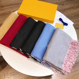 Designer scarf autumn winter shawl knitted long double-sided Bib warm and comfortable 6 styles
