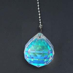Novelty Items AB Color Crystal Pendant 50MM Ball Clear Pendants Ornament Curtain Hanging Bead Accessories DIY Crystals Pr T1K7