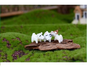 lovely mini cake toppers capsule toys mix dogs decoration gift microlandschaft
