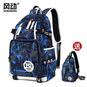 Suitcases Student's Schoolbag Laptop Load Large Capacity Travel Backpack Endorsement Men's Bag