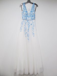 European style sleeveless wedding dress embroidered middle waist bead with zipper