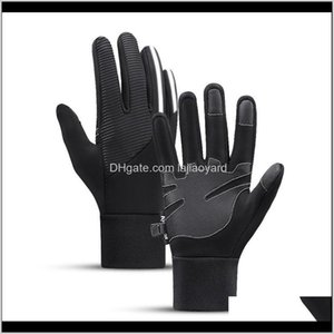 Protective Gear Sports & Outdoors Drop Delivery 2021 Cycling Anti-Slip Gloves Full Finger Touchscreen Men Women Mtb Breathable Mittens Lightw