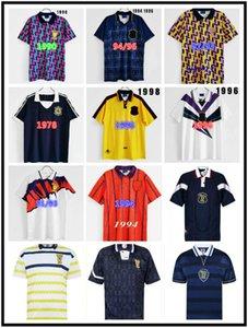 Шотландия 98 Чемпионат мира Окончательные ретро футбол для футболки Mens 1996 1998 1986 1982 1997 1991 1993 1994 1995 прочь Винтаж классическая футболка