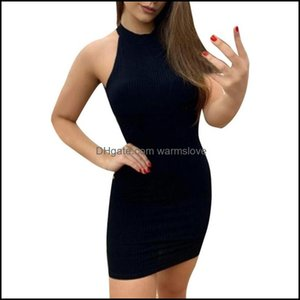 Er-Ups Swimming Equipment Sports & Outdoorser-Ups Sagace Dresses Summer Sexy O Neck Sleeveless Solid Casual For Women Beach Tunic Slim Fit M