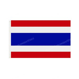 Thailand Flag National Polyester Banner Flying 90 x 150cm 3 * 5ft Flags All Over The World Worldwide Outdoor can be Customized