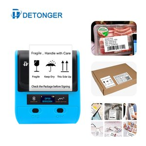 80mm Wide Format Sticker Label Maker Receipt Portable Bluetooth Barcode QR Code Price Tag Printer Machine Printers