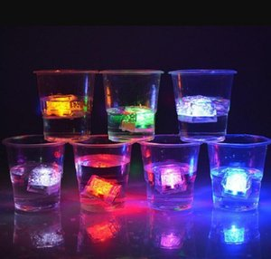Mini LED Party Lights Square Color Changing LED ice cubes Glowing Ice Cubes Blinking Flashing Novelty Party Supply CY20