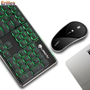 Rechargeable Wireless Keyboard And Mouse Set Laptop PC Computer Mechanical With Blacklight 2.4G Gaming Combos