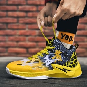 Size Sports Men's 45 Fashionable Outdoor Streetball Boots Casual Running High Top Basketball Shoes 3Q9O