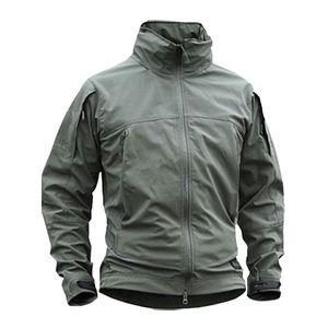 Men's Multi-Pocket Outdoor Jecket Light Type Tactical Jacket Windproof Coat Waterproof Sport Wear Softshell Y097