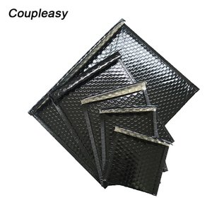 20Pcs Bright Black Bubble Envelope Thicken Aluminized Shipping Bags Mailer Waterproof Mail Packaging Self Seal Padded Envelopes