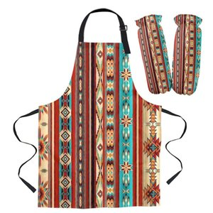 Aprons Bohemian Art Geometric Graphics Kitchen For Women Bibs Household Cleaning Pinafore Home Cooking Apron