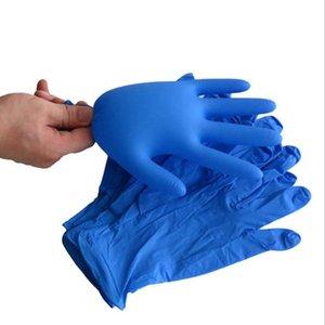 Одноразовые мужские и женские нитрильные перчатки Медицинская красота Домашняя уборка кухни Водонепроницаемый Ручной охраны Размер S M Blue 8-10 см
