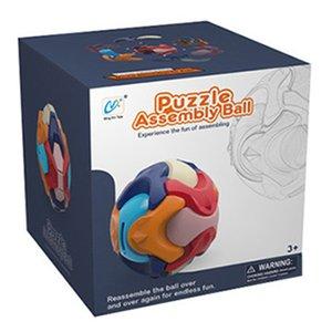 Puzzle Toys MONTAJE BALL 3D NIÑOS BANCO DE DINERO, Bloques de construcción de montaje Regalo educativo para niños 1-13