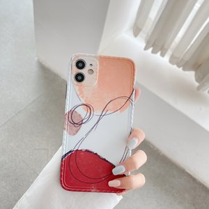 Искусство ретро абстрактные геометрические чехлы телефона для iPhone 12 MAX XR XS X 7 8 PULS 11PRO Симпатичные граффити