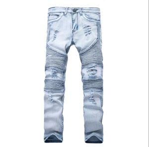 2021 Represent clothing pants slp blue black destroyed mens slim denim straight biker skinny jeans men ripped jeans