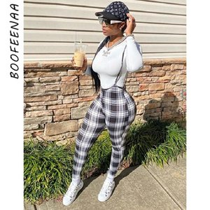 Black Red Plaid Two Piece Outfits For Women Sexy Tracksuit Sportwear 2 Matching Sets Jumpsuit Overalls C87-CD28 Women's Tracksuits