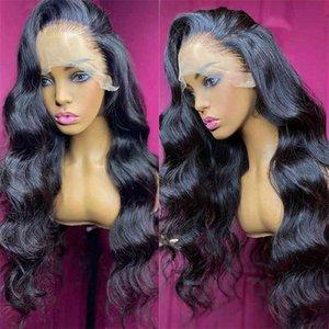 Wigirl 30 pouces Corps 13x6 Front Hair Cheveux Humains Brésilienne Preful En Loose Ocean Wave HD TRANSPARENT Dentelle Perruques frontales