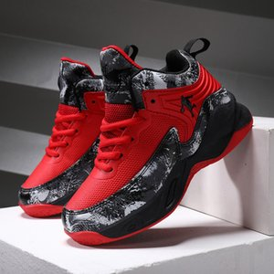 Sports Boys' Children's Shoes, Autumn and Winter, 2020 New Leisure High Top Basketball Shoes for Big Boys TGUW