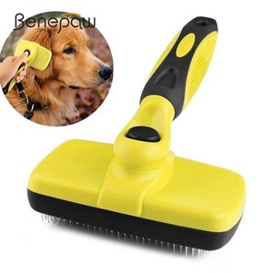 Benepaw Premium Self Clean Brush Slicker Comfortable Small Large Dog Comb Pet Grooming Tools Cat Fits Various Hair