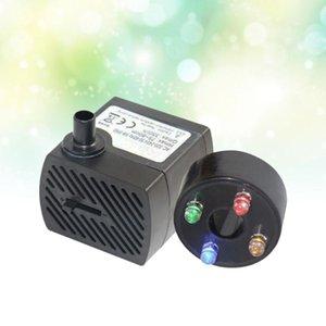 Air Pumps & Accessories 2W Aquarium Circulation Submersible Pump Fish Tank Mini With 4 LED Light US Plug Black