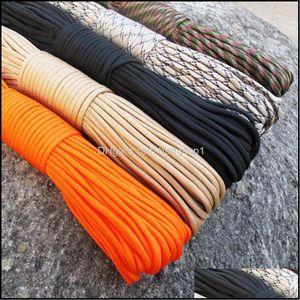 Шнуры, стропы и прогулки по пешеходству Спорт на открытом воздухе33 фута (10 м) Паракорд Парашютный шнур Параштета Ремешок для веревки CARDE MIL SPEC TYPE III 7 Стрэнд