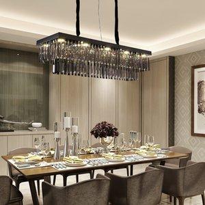 80cm 100cm 120cm modern creative  smoky crystal chandelier lighting for dining room kitchen island