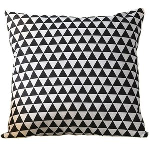 45*45 CM Simple geometric pillowcase black Triangle sofa cushion, thickened square pillow, linen, living room back cover EEB5814