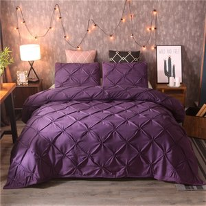 Luxury Black Duvet Cover Pinch Pleat Brief Bedding Set Queen King Size 3pcs Bed Linen set Comforter Cover Set With Pillowcase45 472 V2