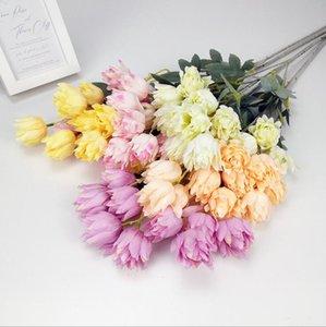 Künstliche Blumen Seidengewebe Hochzeitsfeier Home DIY Floral Dekor Hohe Qualität Großes Blumenstrauß Handwerk Gefälschte Blume Möbelartikel WMQ672