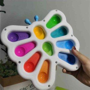 6 adet / DHL POP IT Fidget İtme Kabarcık Oyuncaklar Kelebek Duyusal Fidgets Kabarcıklar Stres Rölyef Sıkmak Kurulu Bebek Çocuk Diş Kaşıyıcı Parmak Oyuncak H320GP1