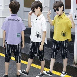 Giyim Setleri Takım Elbise Erkek Yaz Yabancı Stil Çocuk Koreli Giysileri