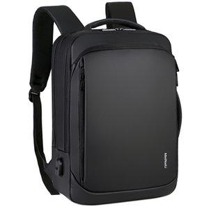 SHUJIN Laptop Backpack Mens Male Backpacks Business Notebook Mochila Waterproof Back Pack USB Charging Bags Travel Bagpack 210320