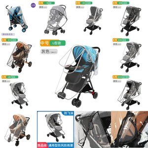 Stroller Accessories Waterproof Rain Cover Transparent Wind Dust Shield Zipper Open Raincoat For Baby Strollers Pushchairs Rainc 1654 Y2