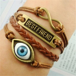 Bracelet de manchette en cuir à infini en cuir à infini à la main Bracelet Bracelet Vintage Accessoires Vintage Cadeaux 172 R2